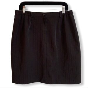 Black knee length pinstripe skirt size 14